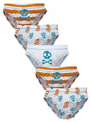 Ladybird Boys Pack of Five Skull Print Briefs in Multi Size 12-18 Months