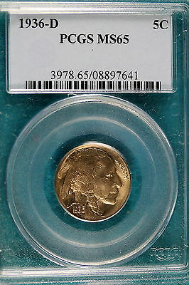 1936-D PCGS MS65 Buffalo Nickel!! #B5089