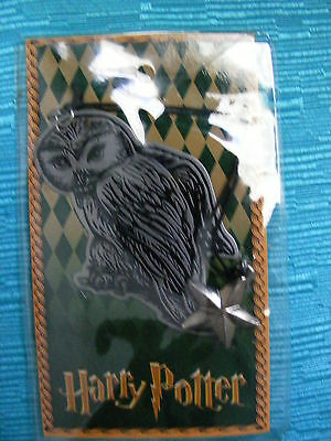 Harry Potter Collectible Metal Bookmark Owl Hedwig W Star Scholastic Nip