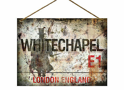 "Whitechapel Jack The Ripper   Vintage / Distressed Style  Metal 8""x6"" Sign"