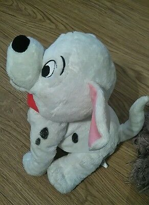 "Disney Store Exclusive 12"" Tall 101 Dalmations Puppy Beanie Plus Soft Toy"