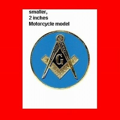 "2"" Blue~Lodge Masonic Metal Motorcycle Bike Badge Free Mason,freemason Logo Gift"
