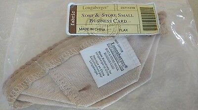 Retired Longaberger Flax Tan Liner for the Business Card Basket.  MINT!
