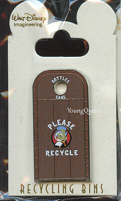 WDI Disney Cast Recycle Bins Jiminy Cricket Trash Can Frontierland Le 300 Pin