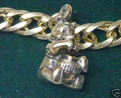 """DISNEY Sterling Winnie-the-""""Pooh"""" Charm Bracelet Limited Edition - Early 90's"""
