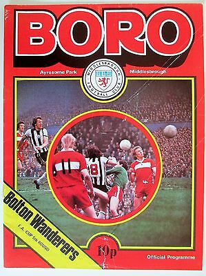 Middlesbrough v Bolton Wanderers FA Cup 77/78