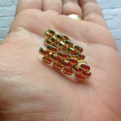 Vintage 80s gold tone chain link clip on earrings