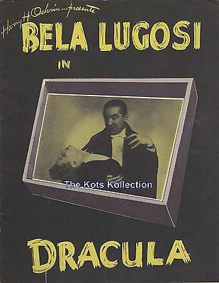 BELA LUGOSI IN DRACULA-THEATER PROGRAM-16 Pages With B&W Photos-1943