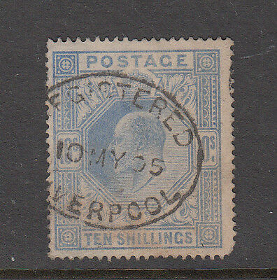 Great Britain #141 Used 10 Shilling - High Catalogue - Liverpool Cancel -Scans!