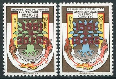 GUINEA Sc.# B17-18 1961 Stamps Overprint in Red