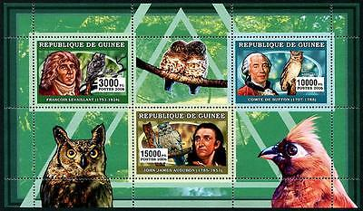 GUINEA Stock# HS26 Birds Stamp Sheetlet of 3 Diff.
