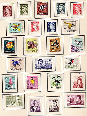 AUSTRALIA:One set of used 1966-67 issues/SCOTT#394-419 (24 stamps)