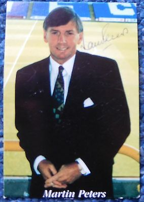 World Cup 1966 MARTIN PETERS signed picture card West Ham United Norwich City