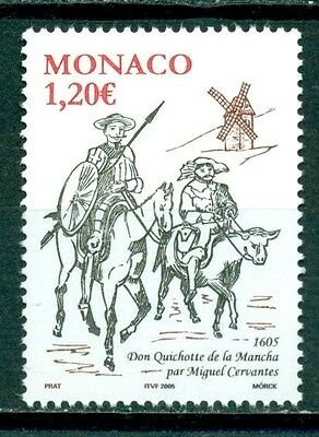 Monaco Scott #2361 MNH Publication of Don Quixote 400th Ann CV$3+