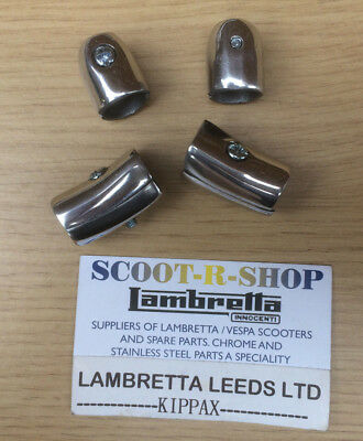 Lambretta Series 3 Li-Lis-Tv-Sx Legshield Beeding End Caps - Polished Alloy New