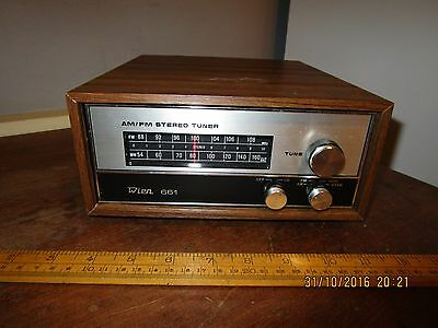Vintage / Retro 1970s Wien 661 AM / FM Stereo Tuner with wood effect  surround