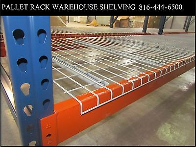 wire mesh deck shelving for pallet rack decking 3 channel for teardrop NEW