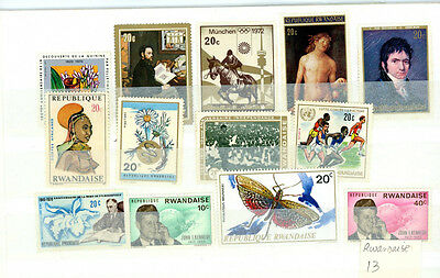Rwanda outstanding selection of 13 stamps - great value