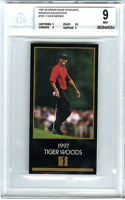 Tiger Woods~1997 Grand Slam Venture Masters Collection Bgs-9 Mint Rookie Rc Card