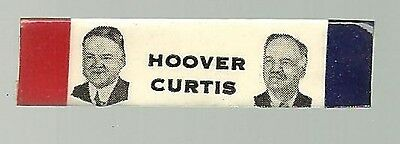 Herbert Hoover, Charles Curtis 1928 Presidential Campaign Pin