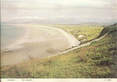 Superb Old Judges Postcard - The Beach - Harlech - Merionethshire - Wales C.1965