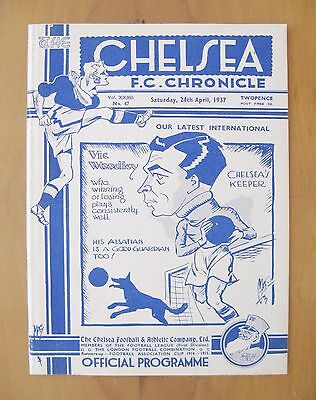 CHELSEA v ARSENAL 1936/1937 *Excellent Condition Football Programme*