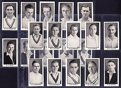 D.C. Thomson COUNTY CRICKETERS 1957 Set Of 64 *Good Condition*