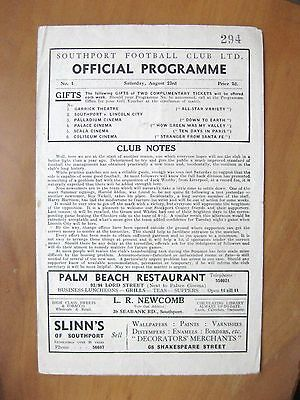 SOUTHPORT v STOCKPORT COUNTY 1947/1948 *VG Condition Football Programme*