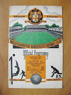 WOLVES v LUTON TOWN 1955/1956 *Excellent Condition Football Programme*