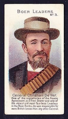 Taddy BOER LEADERS 1901 #3 General Christian De Wet *VG Condition*