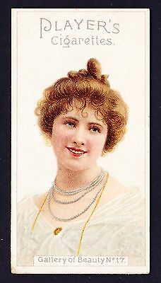 John Player GALLERY OF BEAUTY SERIES 1896 #17 *VG Condition*