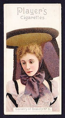 John Player GALLERY OF BEAUTY SERIES 1896 #5 *VG Condition*