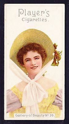 John Player GALLERY OF BEAUTY SERIES 1896 #39 *VG Condition*