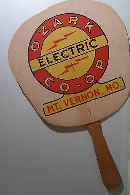 Ozark Electric  CO-OP Mt. Vernon, Mo Paper Fan Old Phone Numbers