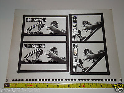 THE OFFSPRING BACKSTAGE PASSES RARE Uncut Test Pass Sheet 1998 Tour PERRI USA