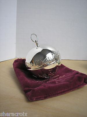 2003 Wallace Silver Plated Christmas Sleigh Bell Christmas Ornament