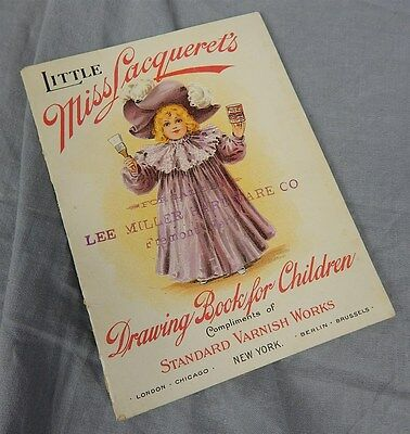 c 1900~Little Miss Lacqueret's Drawing Book for Children~Standard Varnish Works