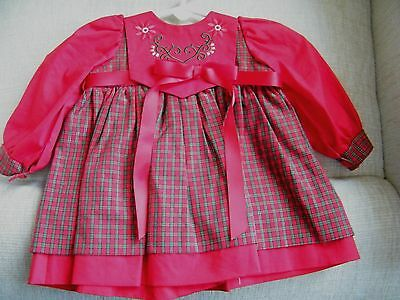 A Lee Middleton Original Christmas Dress 12 Inches Long With Long Sleeves