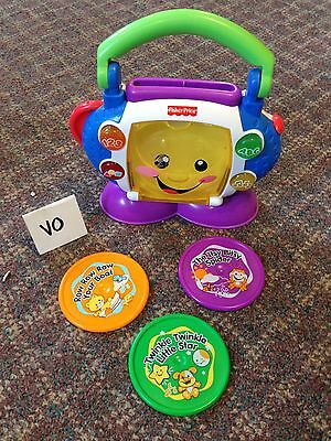 Fisher Price Laugh & Learn Sing with Me CD Player Musical Toy Radio Complete VCG