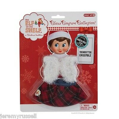 New Elf On The Shelf Claus Couture Collection Trendsetter Ensemble Dress Outfit