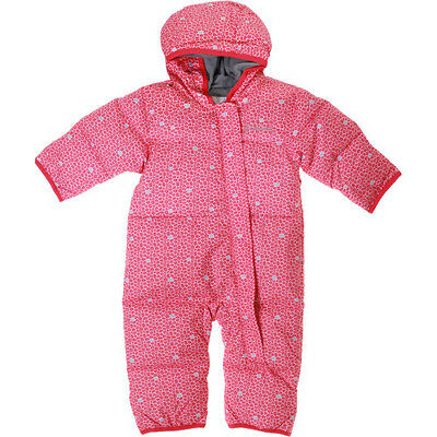 Columbia Snuggly Bunny Bunting Toddler Kids Jacket Snowsuit - Punch Pink Floral