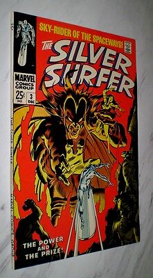Silver Surfer #3 VF+ 8.5 Cr/OW pages Unrestored 1968 Marvel 1st Mephisto