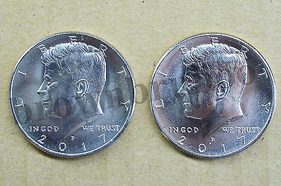 2017 P&D Kennedy Half Dollar Uncirculated 2 Coins Philadelphia & Denver Mint 50c