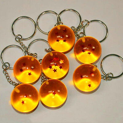 1PC Anime Dragon Ball Z Cosplay Crystal Ball Keychain DBZ Pendant Keyring