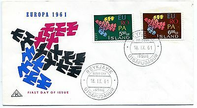 Iceland 1961 Europa First Day Cover