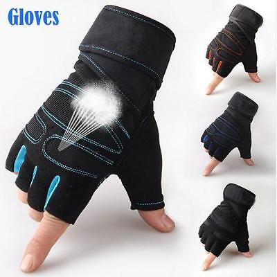 Breathable Weight Lifting Body Building Gloves Gym Fitness Training Wrap Sports