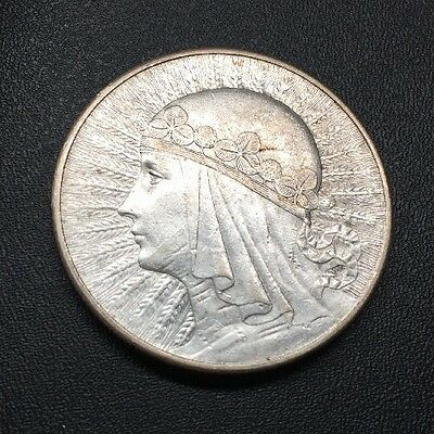 1932 Poland 10 zlotych silver coin, London Mint, Nice Higher Grade