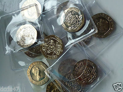 VARIOUS UNCIRCULATED 20p TWENTY PENCE COINS 1982 TO 1996