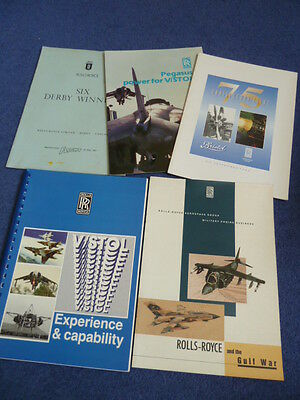 ROLLS-ROYCE, five military aircraft engine publications, 1960s-1990s (set R)