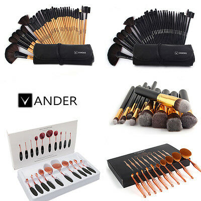 5/10/32PCS Toothbrush Shaped Oval Cream Puff Beauty  Makeup Brushes Set Kit